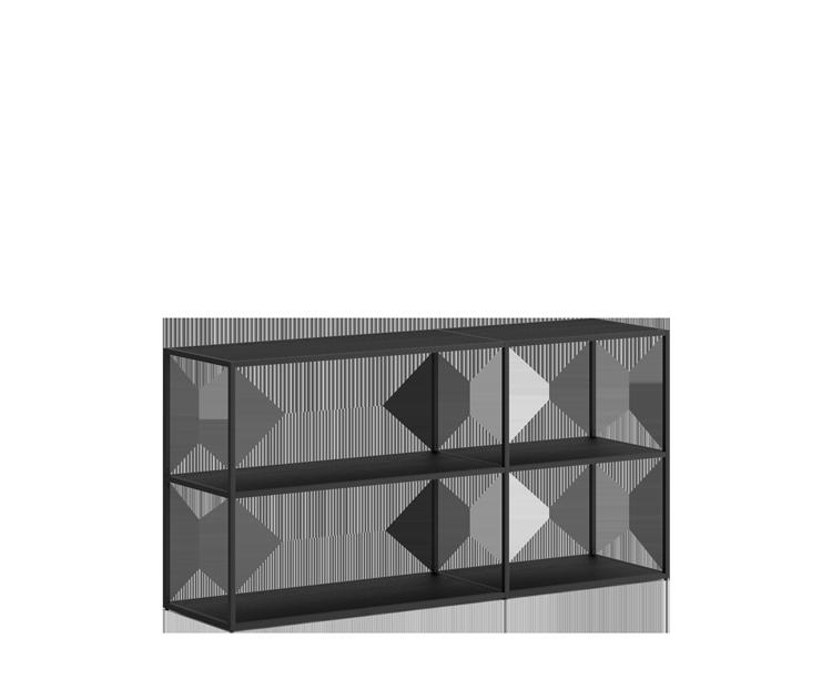 regal schwarz metall 60 cm breit