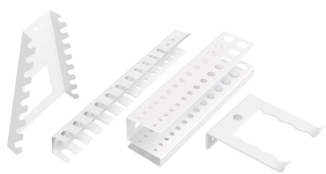 9 Slot Schraubenschlüssel Halter Wandmontage Lagerregal Schienen Organizer Tool