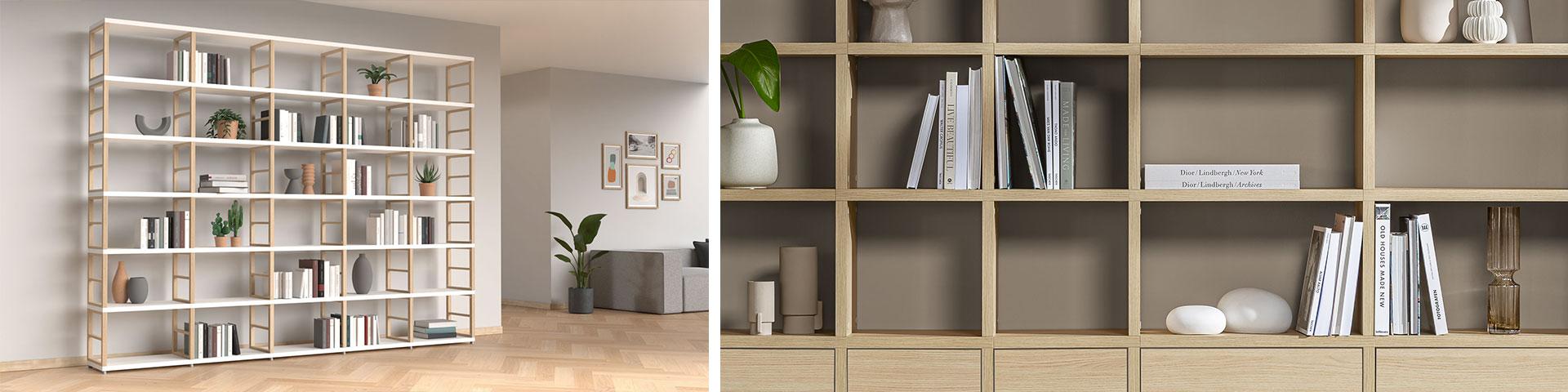 Bücherwand passgenau für Ihre Bibliothek   REGALRAUM in