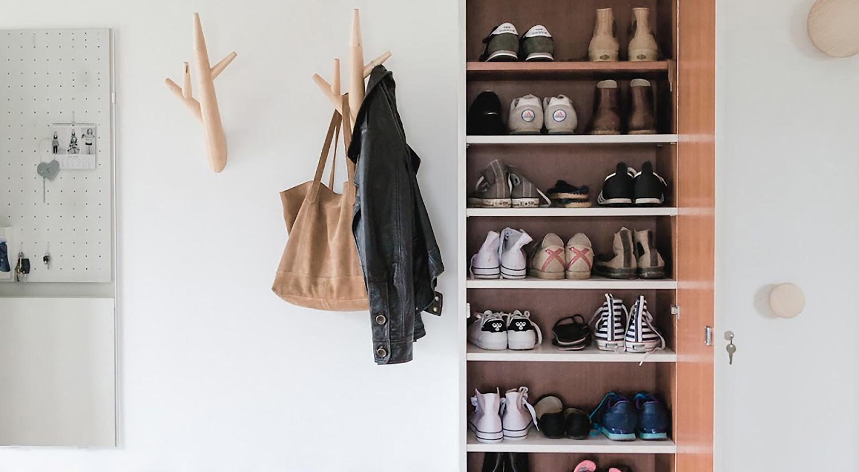 Shelf boards - White custom shelves for the hall wardrobe