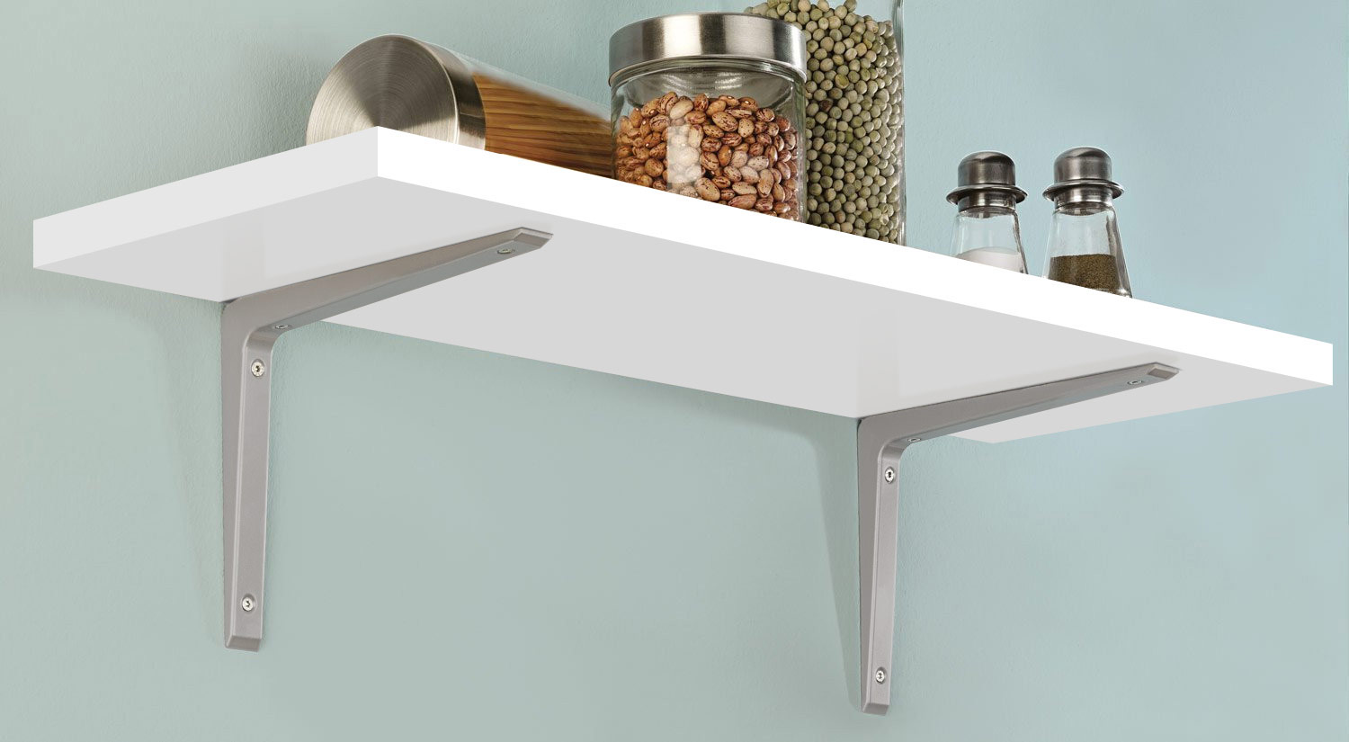 Metal Shelf Brackets - PURIST metal as kitchen shelf