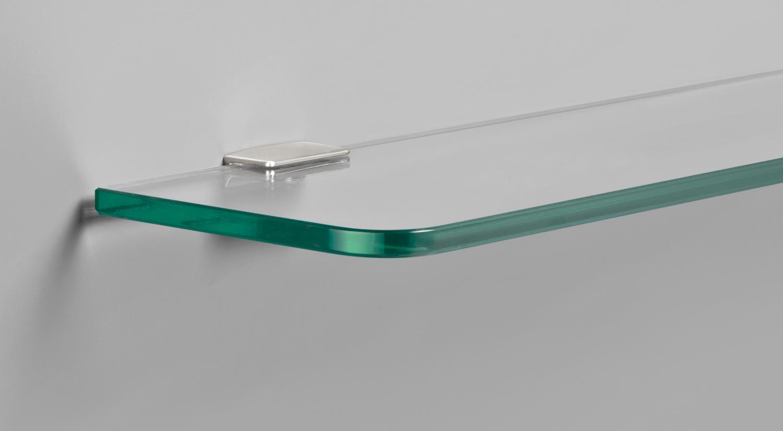 Shelf brackets - FLAC glass shelf bracket with ROUND glass shelf board