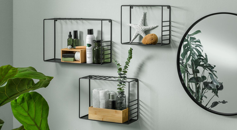 bathroom wall shelves lynn shelf set metal in the bathroom
