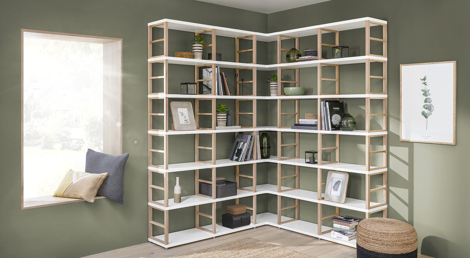 Corner shelf - MAXX Shelving System book shelf
