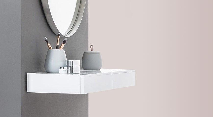 Shelves with Drawer - CASSETO Shelf as dressing table