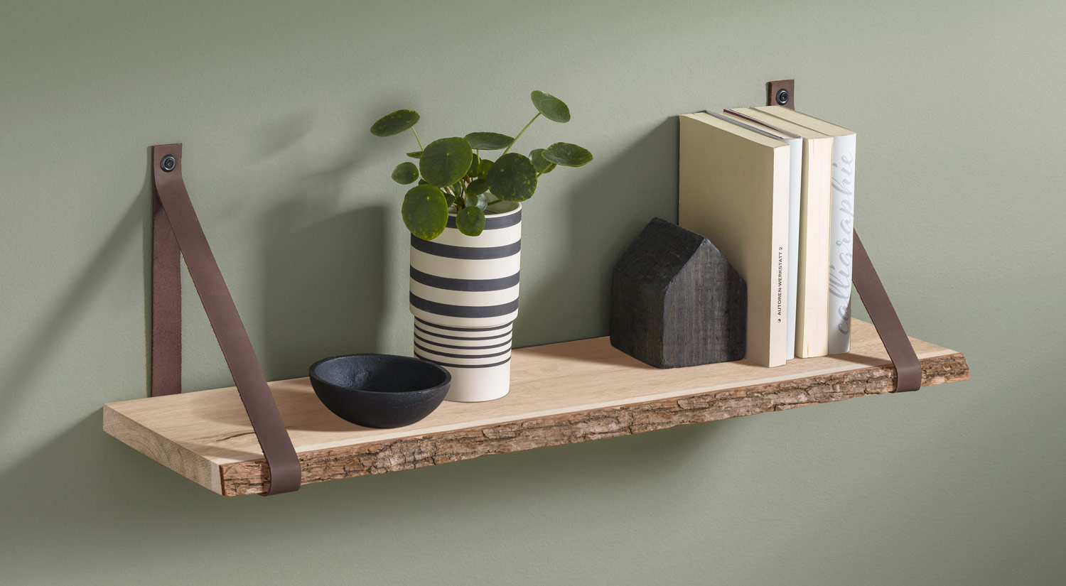 Wooden Wall Shelves - NATURE+LOOP in the living room