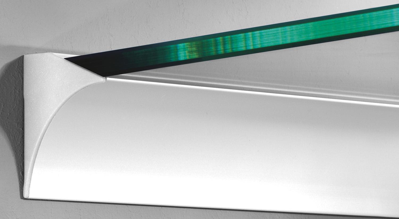 Support étagère - Support d´étagère en verre RAIL-8