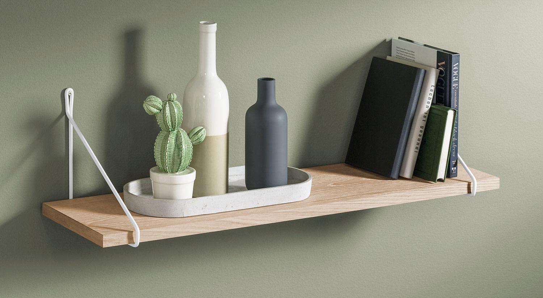 Planche étagère - VINTAGE avec support d'étagère FIL Etagère murale bois