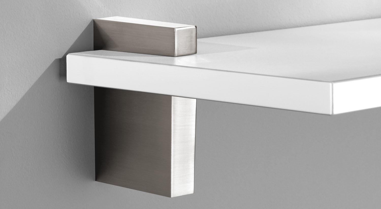 Regalträger - CUADRO Maxi Regalträger im Dekor edelstahl mit Regalboden