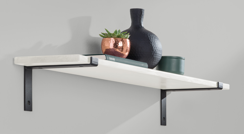 Regalwinkel - LIP Metall schwarz im Wohnzimmer