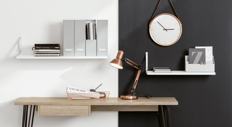 Regalwinkel - TRI Metall mit Regalboden weiß im Büro