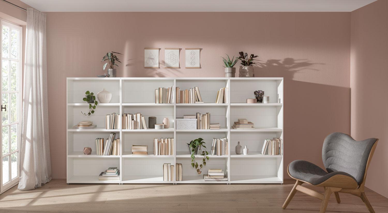 Bücherregal hier online kaufen   REGALRAUM   Regal weiß