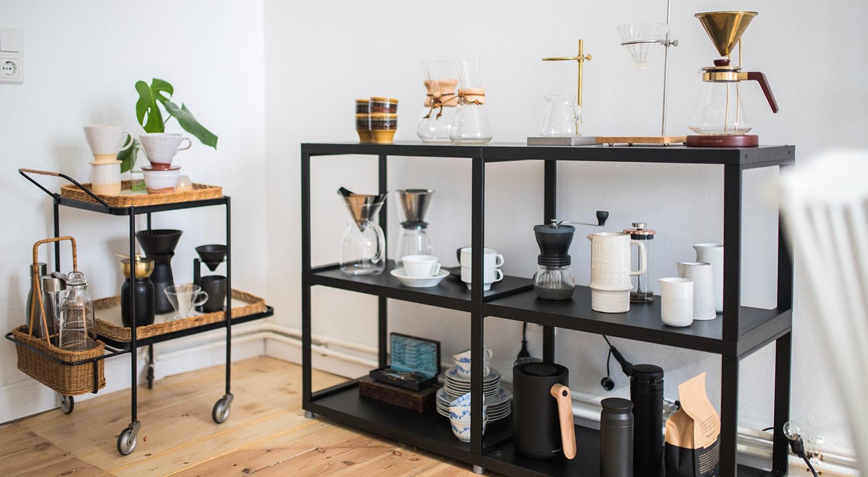MAXX M Metallregal schwarz als Kaffeebar
