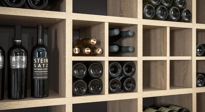 Weinregal - Regalsystem BOON Einsatz Flaschen eiche