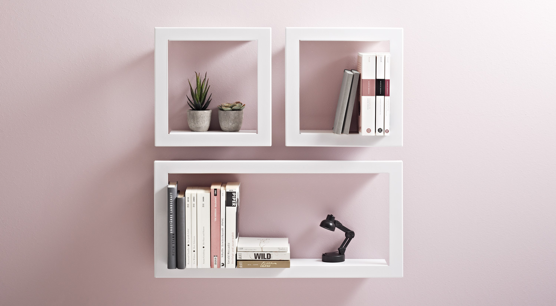 Regalwürfel - FIGURA Würfelregal Metall weiß als Bücherregal