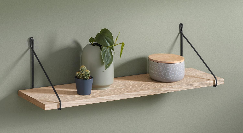 Wandboard Holz Naturlicher Style Regalraum