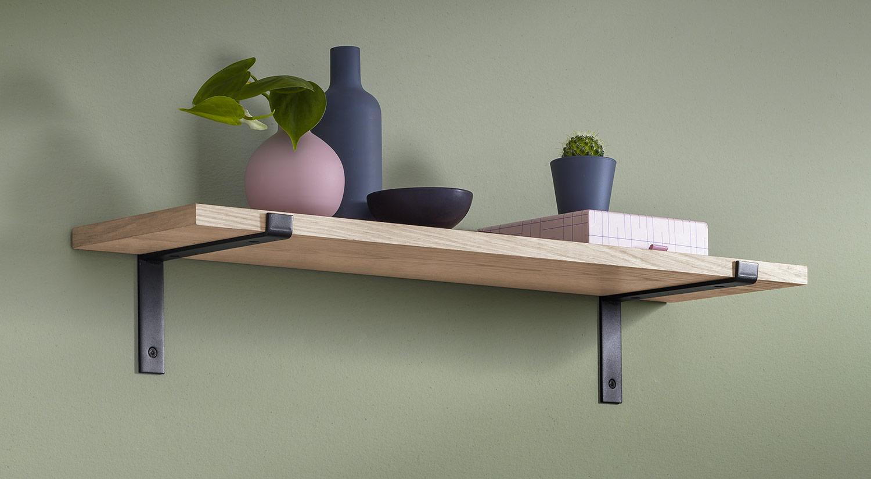 Wandregale Holz - VINTAGE+LIP Wandregal eiche Metall
