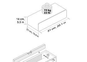 CASSY Wandregal mit Schublade | weiß hochglanz |