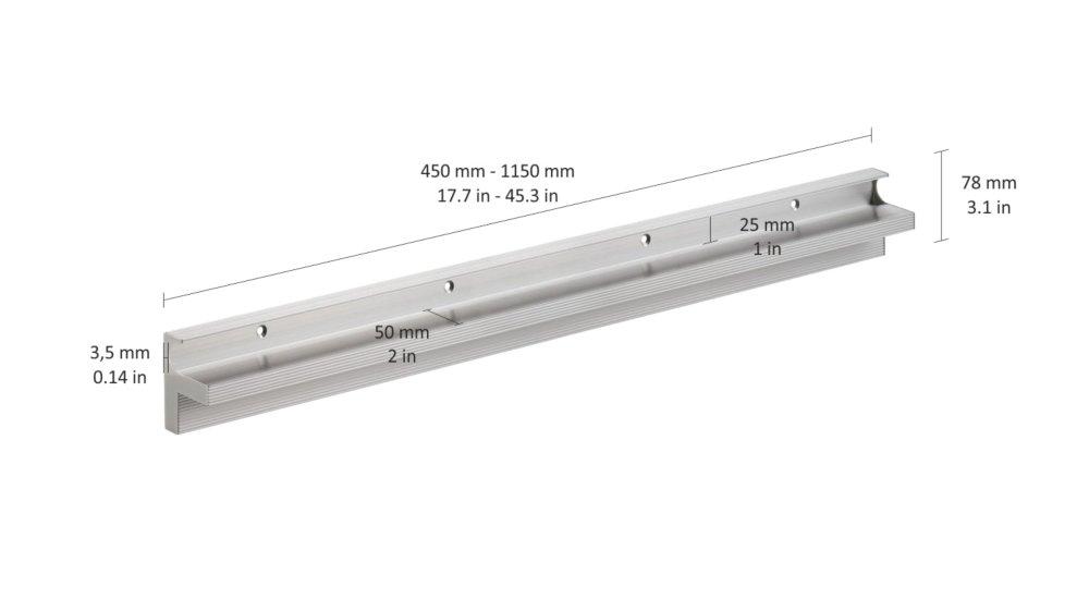 CUBE 25 Regalbodenträger für 25 mm Böden  
