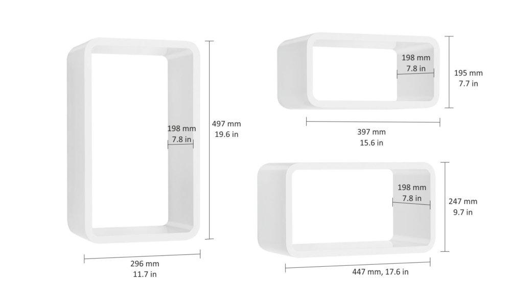 Longcube Set D Etageres Cube Blanc Laque Regalraum Com