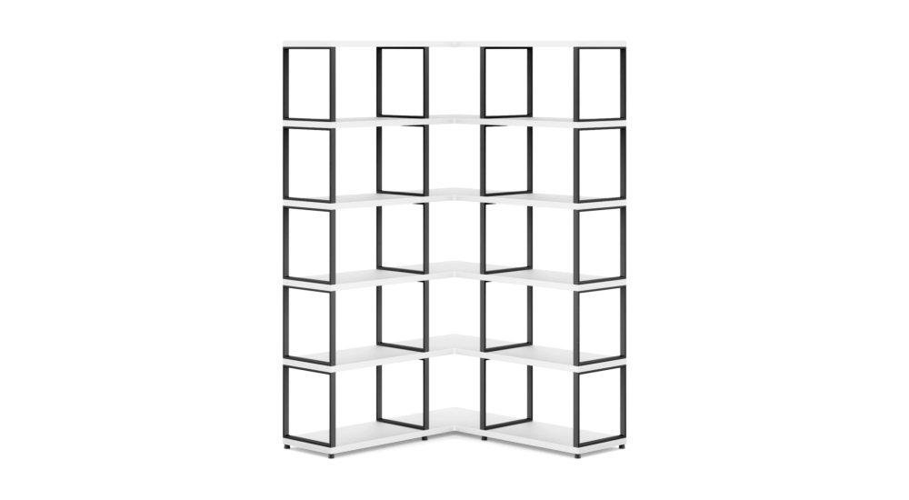 BOON 3x5 Eckregal | 8888x183x33 cm weiß |