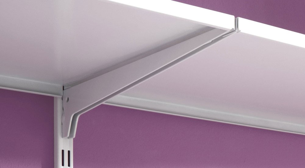 P SLOT S 401 Wandregalsystem | 323x200x42 cm weiß, grau