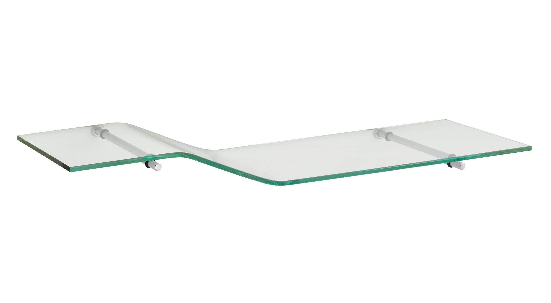 zigzag atlas glasregal 80x20 cm klar silber 1